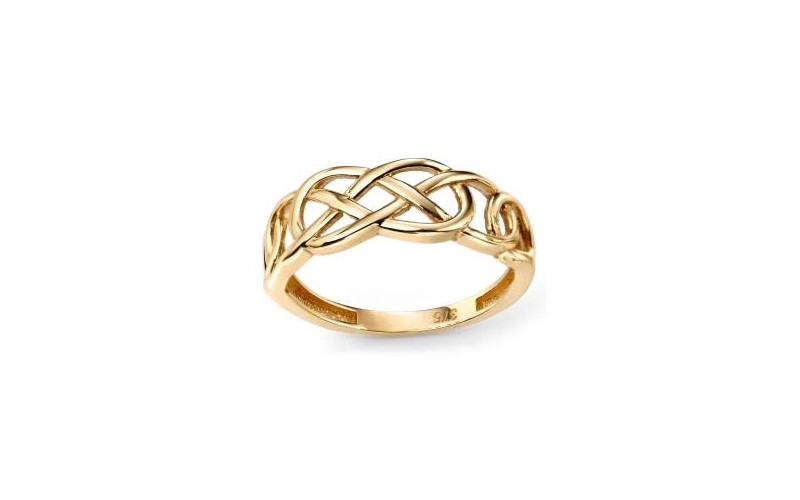 9ct Gold Celtic pattern Ring. £135.00