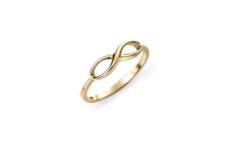 9ct Gold infinity Ring. £125.00