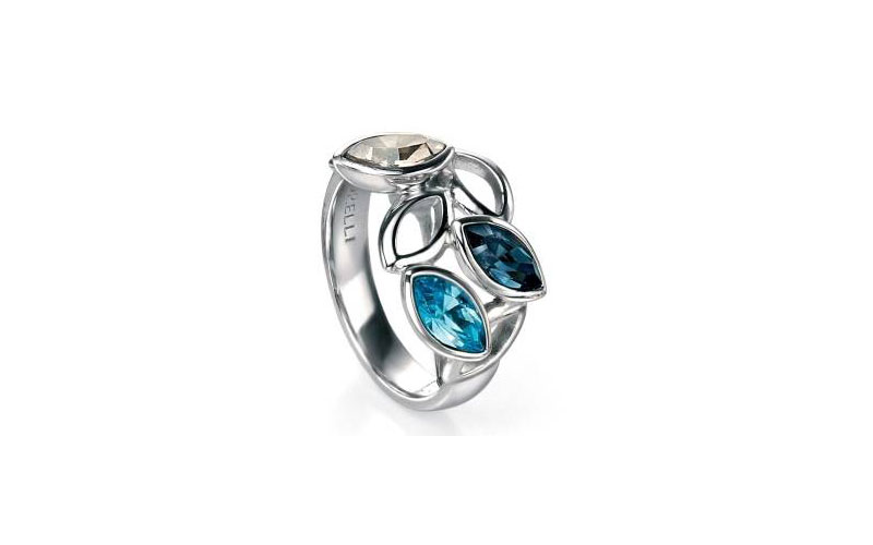 marquise-cut-multi-link-stone-ring-with-swarovski,-aquamarine,-silver-shade-RRP-75-00