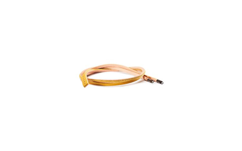 Leather Bracelet, Yellow Light Pink